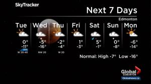 Edmonton weather forecast: Jan. 21